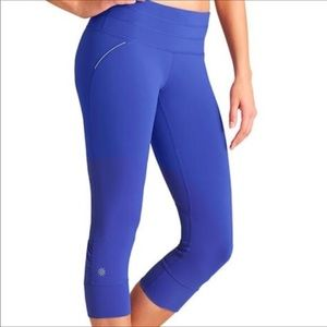 Athleta | Blue Relay Crop Leggings